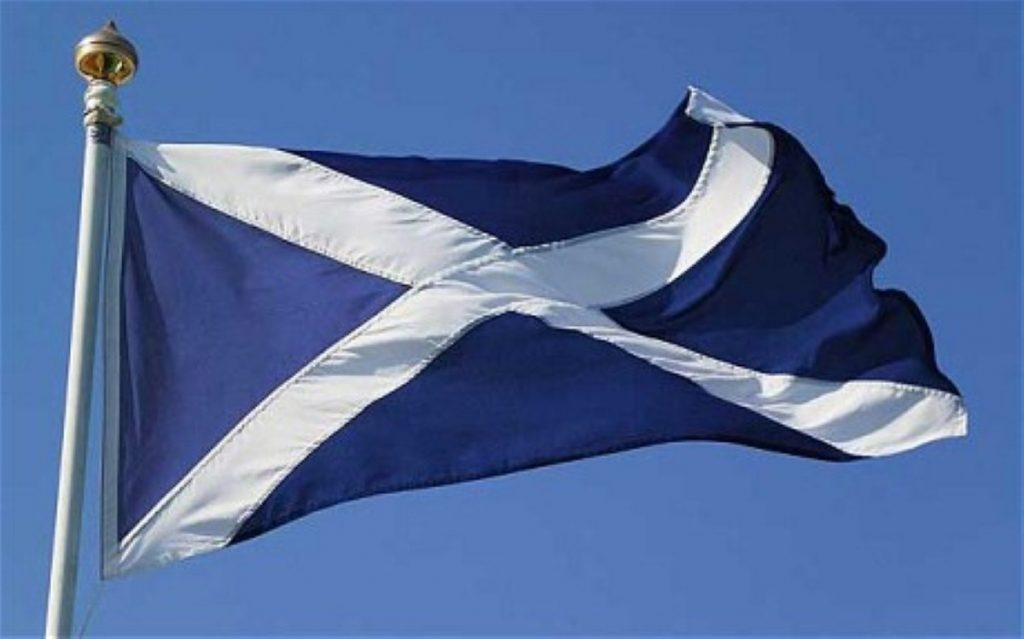 Vote 'no' because we like the Saltire, too