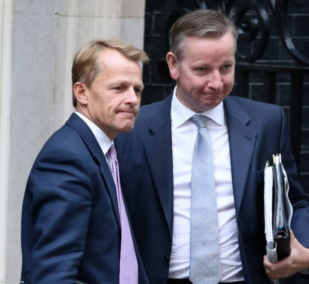 Michael Gove and David Laws: A prime example of coalition disunity