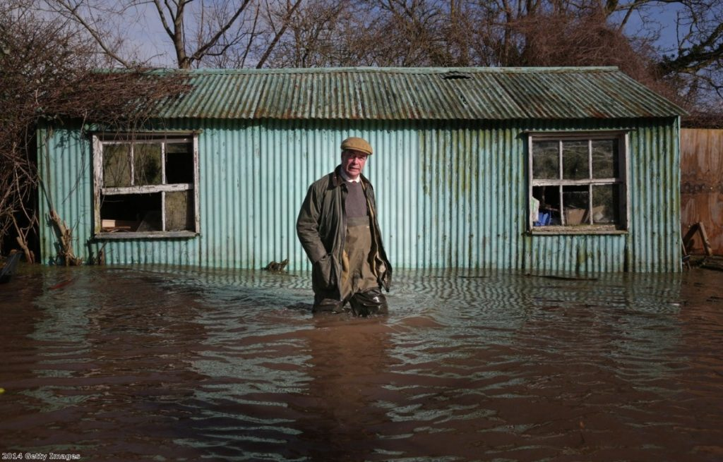 Nigel Farage isn't thought to be responsible for the flooding
