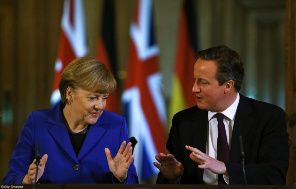 Angela Merkel and David Cameron in happier times