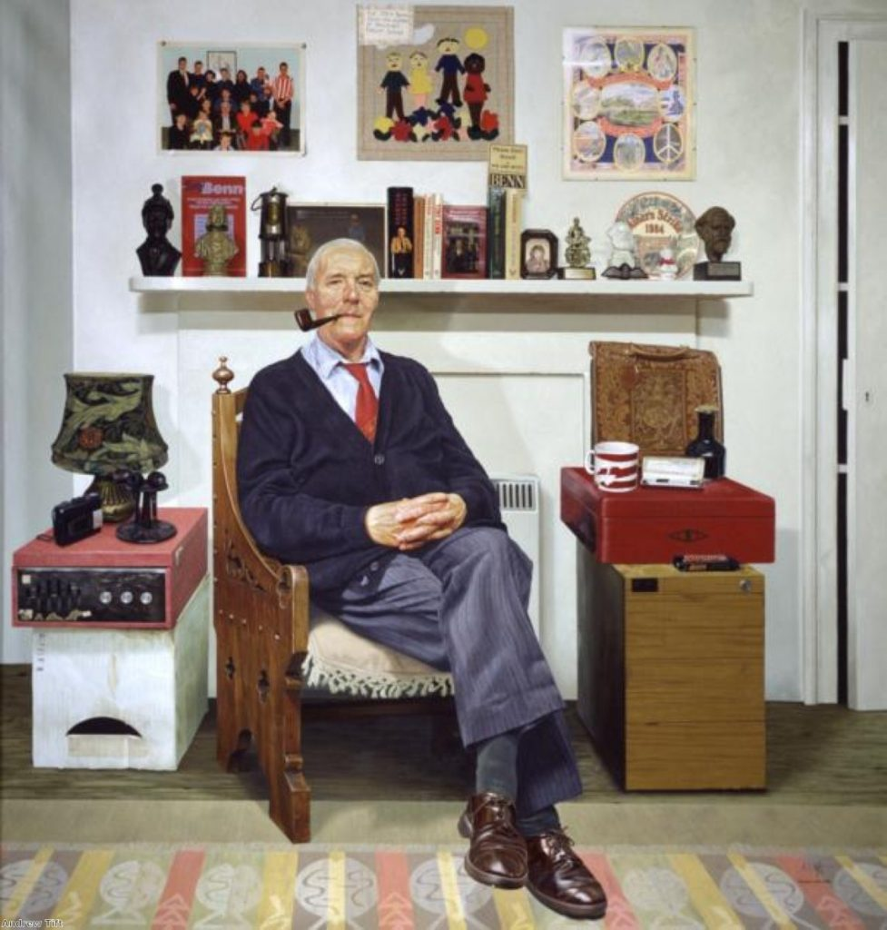 """Andrew Tift, who painted Tony Benn's portrait, recalls his experience with """"a genuinely nice man"""""""