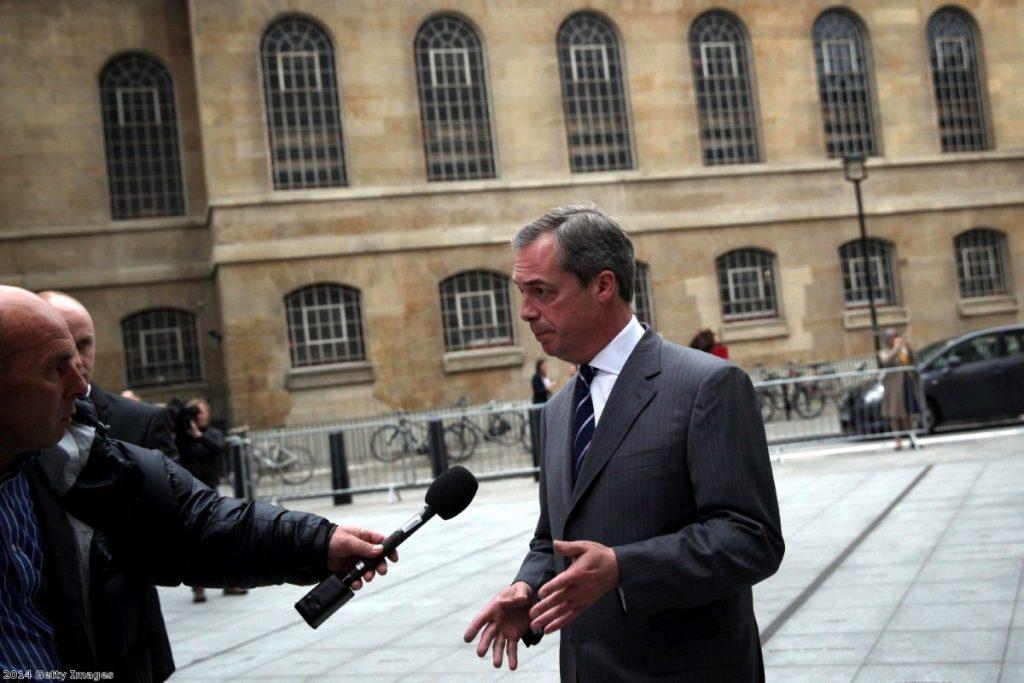 Farage ahead of last night's debate