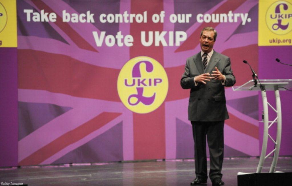 Nigel Farage denies being head of 'the BNP in blazers'