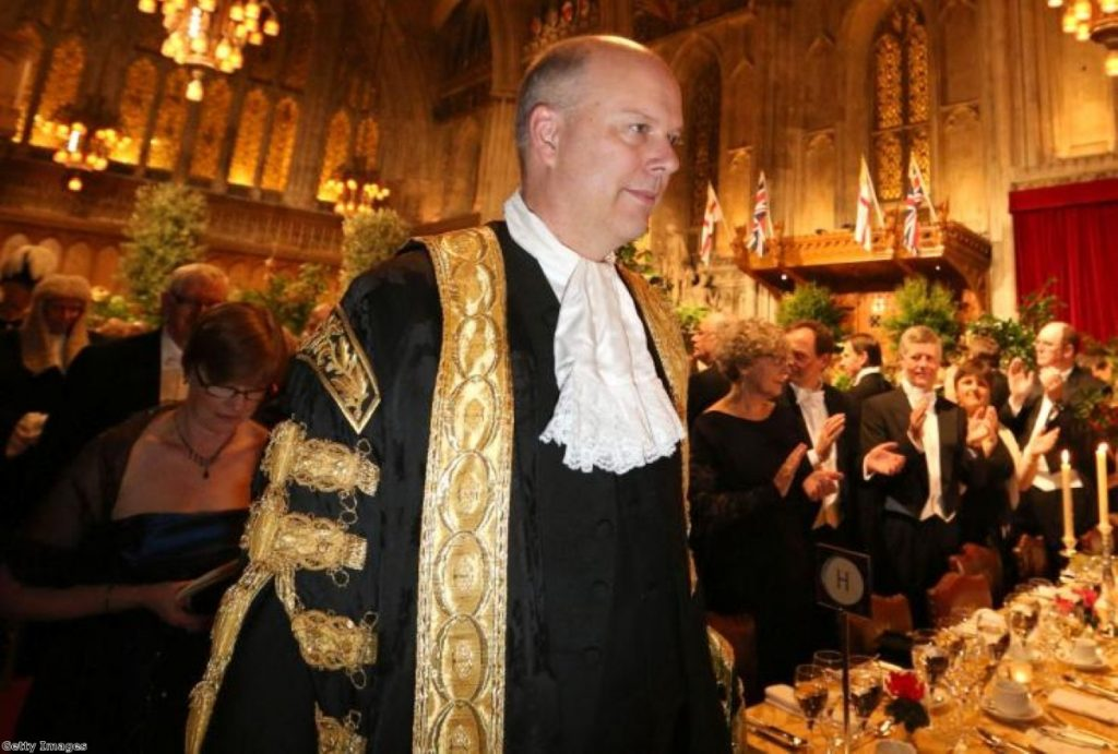 Chris Grayling's combination of the roles of lord chancellor and justice secretary has been criticised