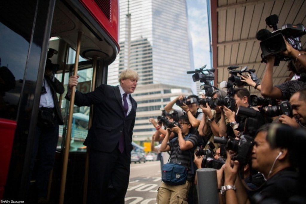 Boris Johnson in Hong Kong