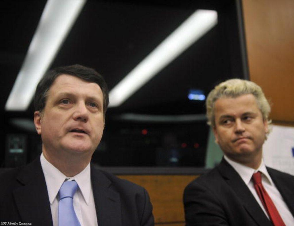Gerard Batten alongside far-right Dutch politician Geert Wilders.