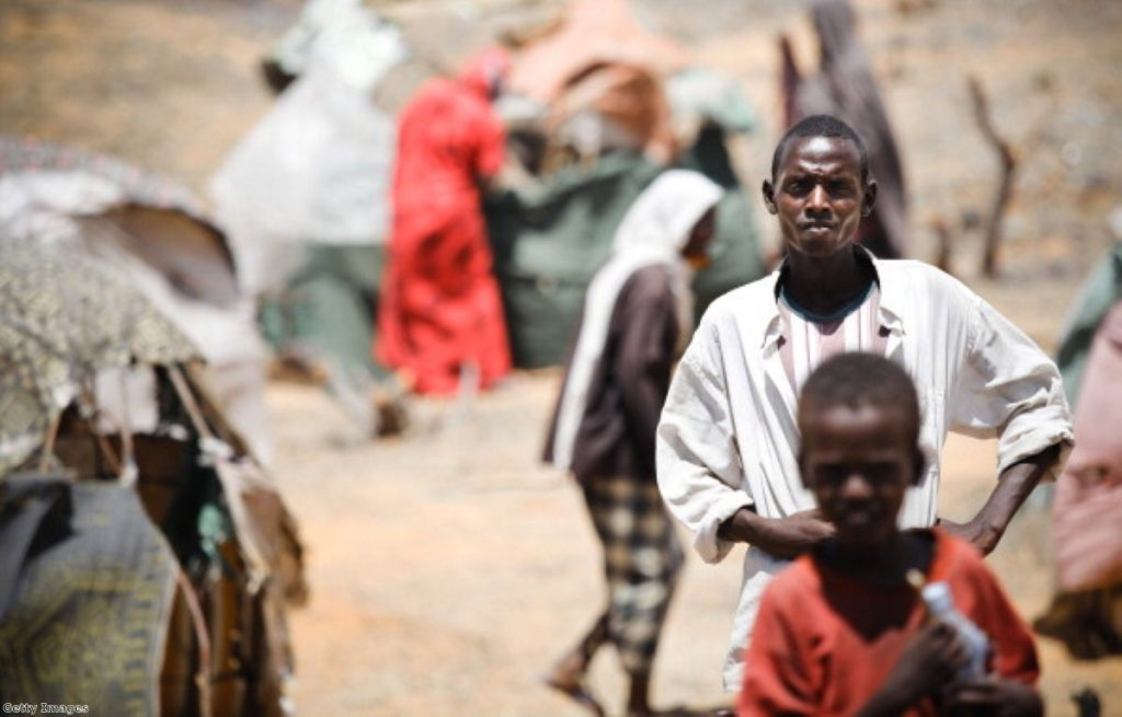 Somalian refugees from an Al-Shabaab controlled town in Mogadishu.
