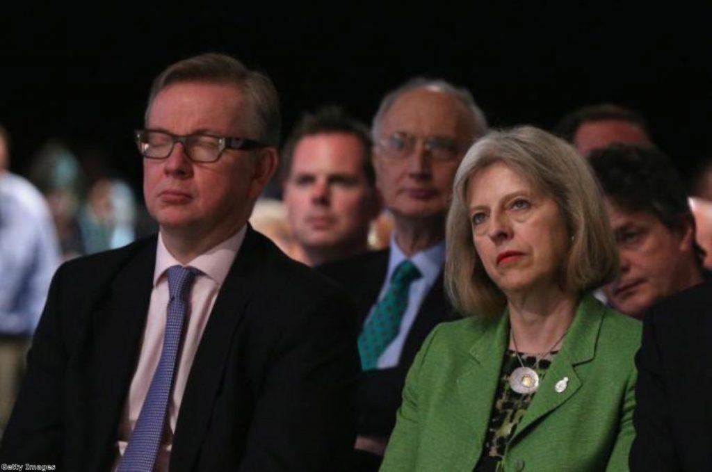 Awkward... Michael Gove and Theresa May have been at loggerheads