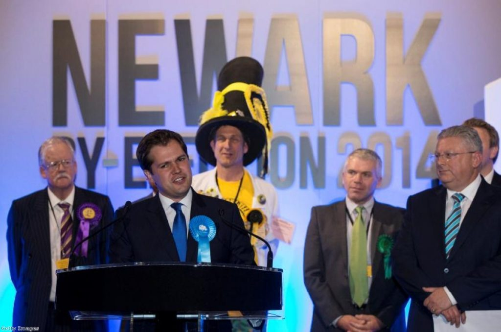 Robert Jenrick holds Newark for the Conservatives - the first time the Tories have clung on in a by-election while in power in 25 years