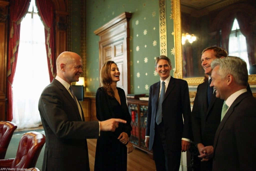 Angelina Jolie shares a joke with Cabinet ministers. Campaigners want more focus on how we treat rape victims at home.