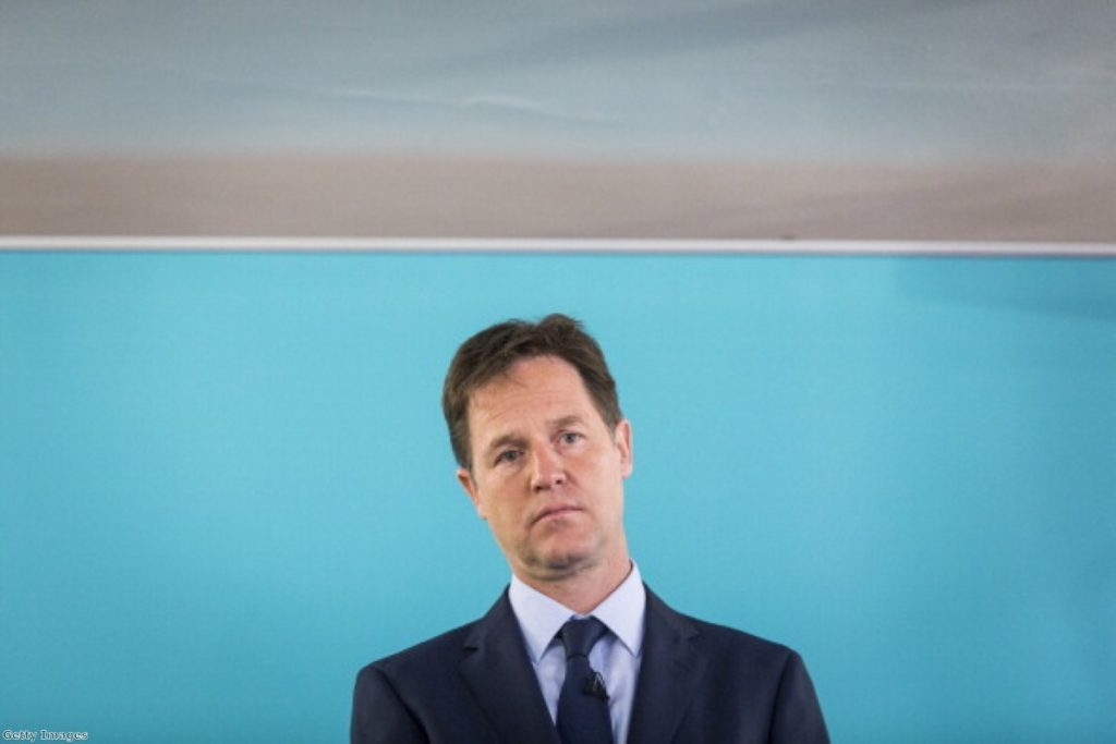 "Nick Clegg told he looks like ""a spat-out smartie"""