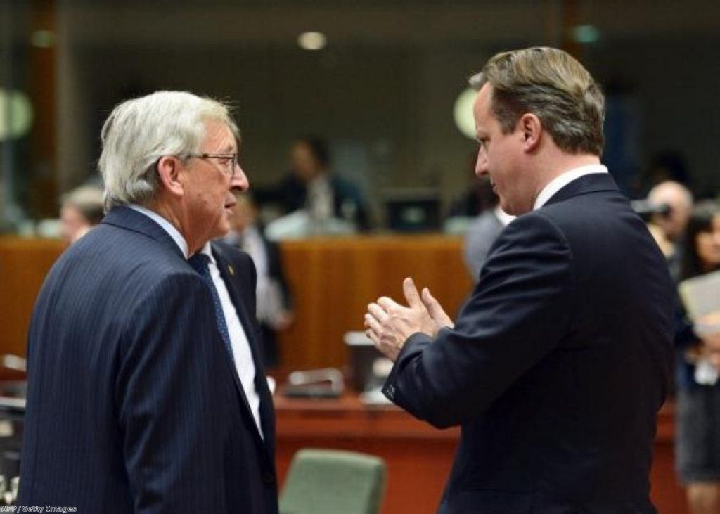 Jean-Claude Juncker talks with the man determined to stop him becoming president of the European Commission
