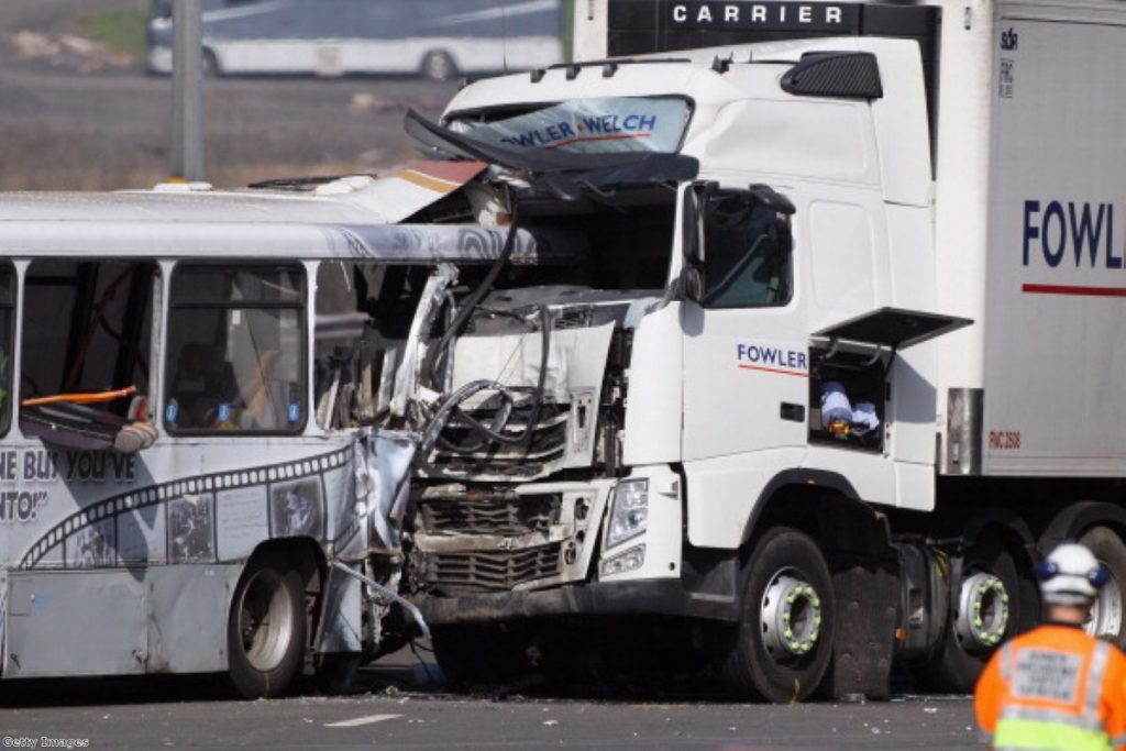 Thirty people injured and one person died at this crash on the M5 in 2012
