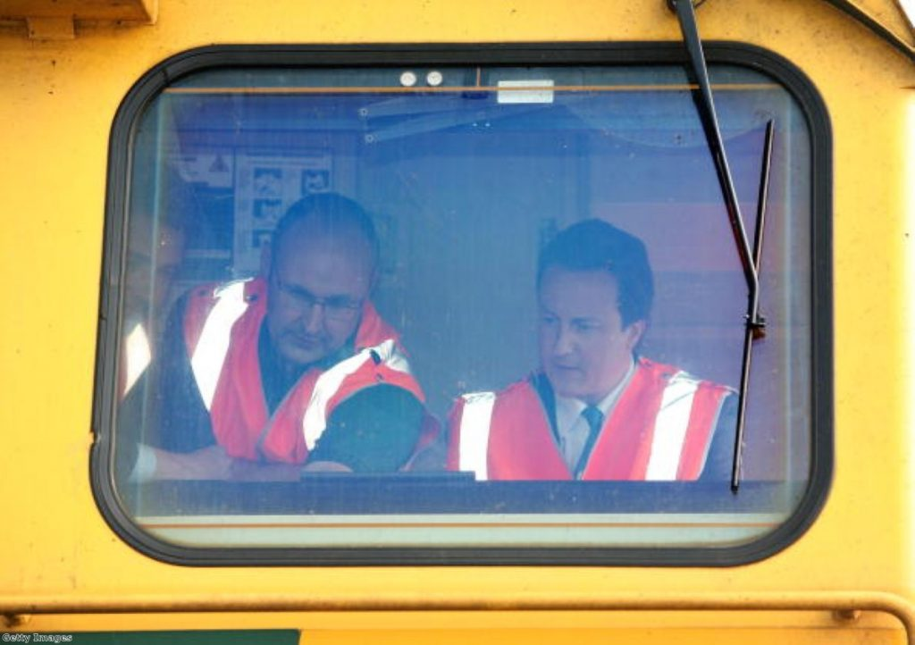 Handing back the controls: Cameron committed to private ownership of the railways