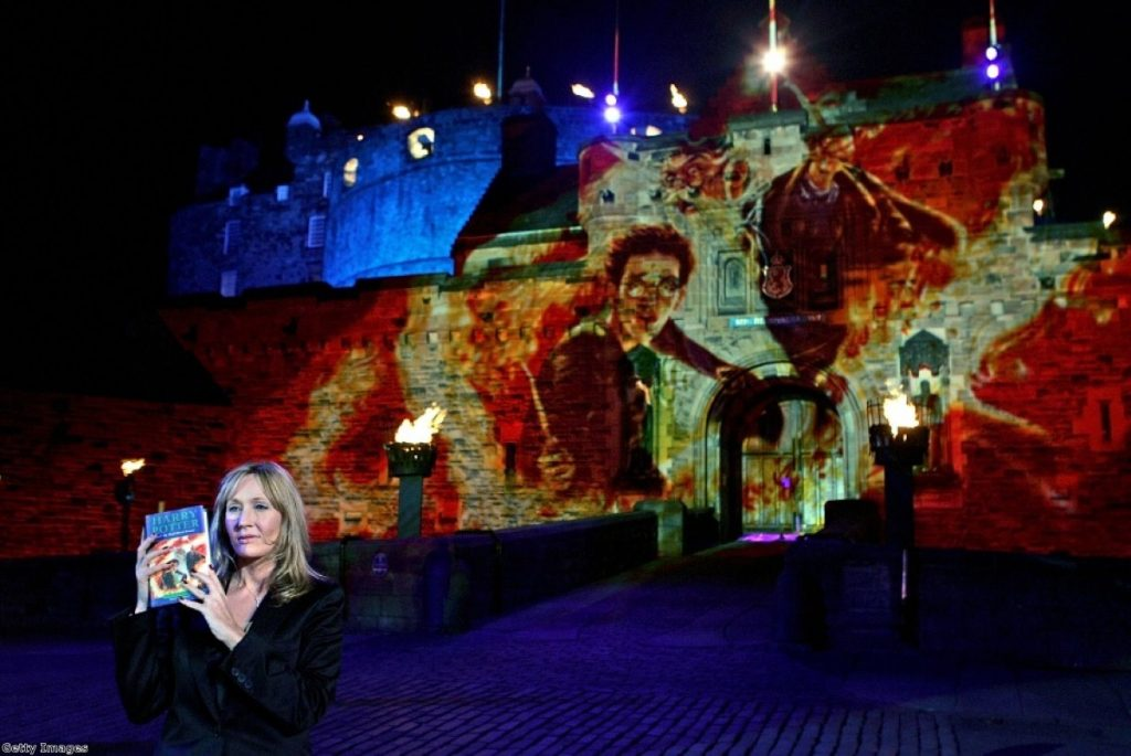 JK Rowling casting a pro-union light over Edinburgh Castle