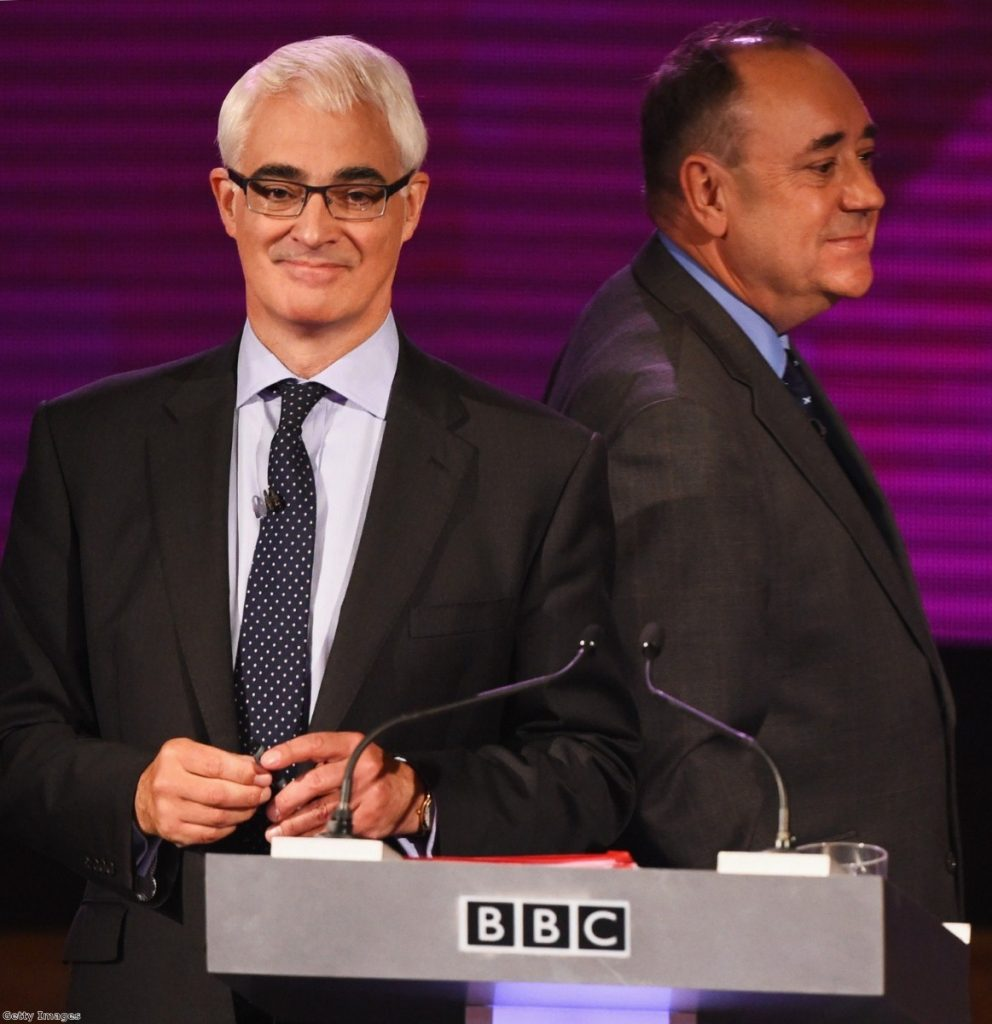 Constricted by neo-liberalism? Darling comes second to Salmond in bad-tempered Scottish independence debate
