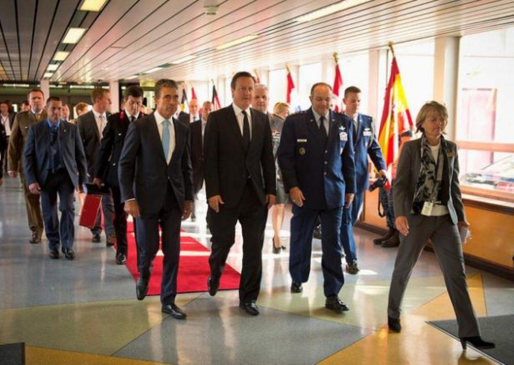 David Cameron at Nato's Supreme Headquarters Allied Powers Europe