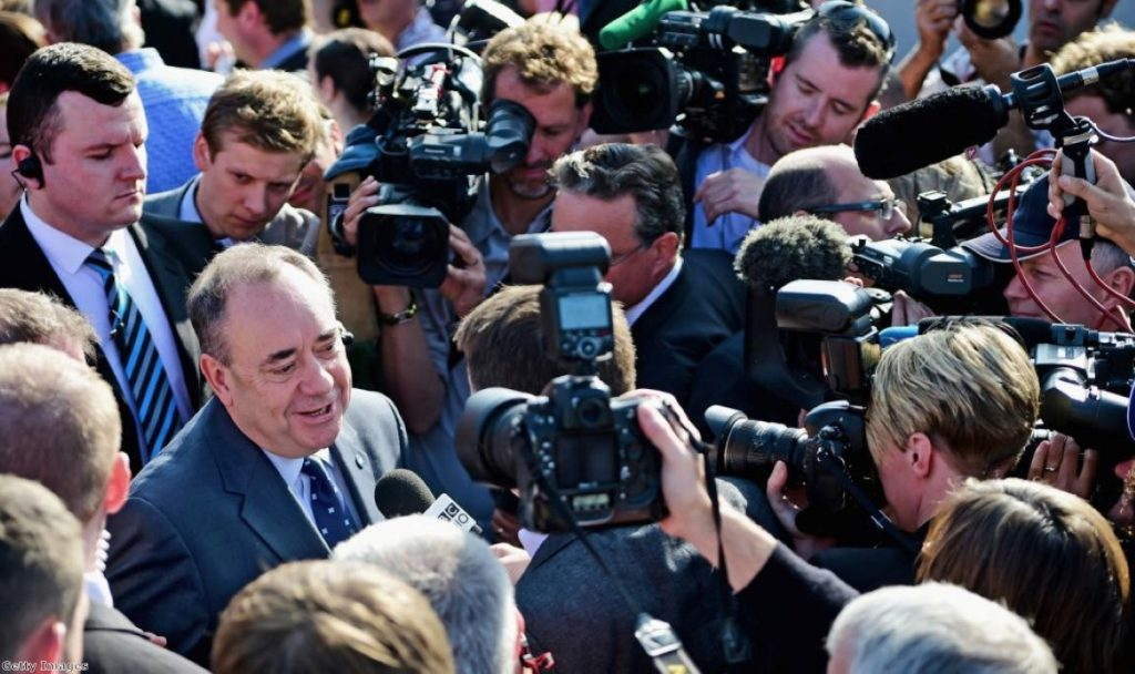 Salmond's talk of 'Team Westminster' is likely to resonate with voters