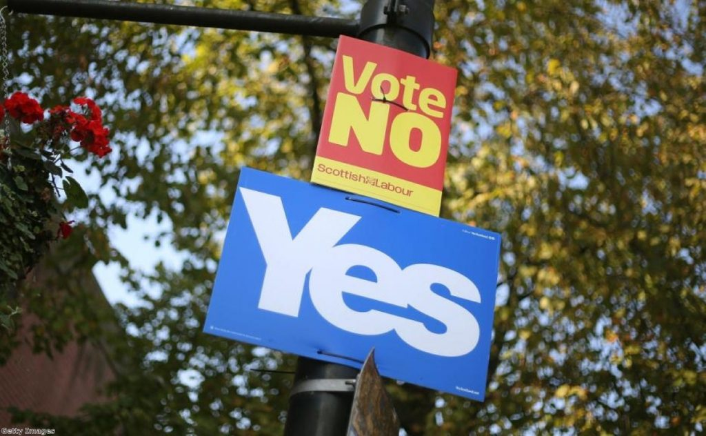 One week to go until polling day, and Scotland is dominated by the referendum debate