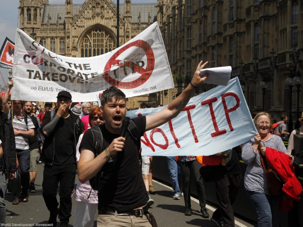 Anti-TTIP protests in London