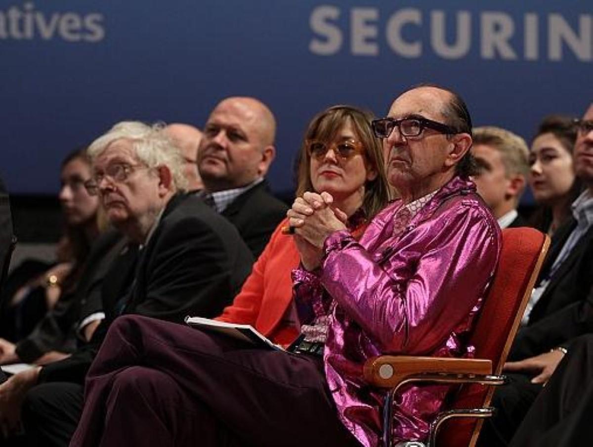 A flamboyantly dressed Tory delegate bucks the trend in Birmingham