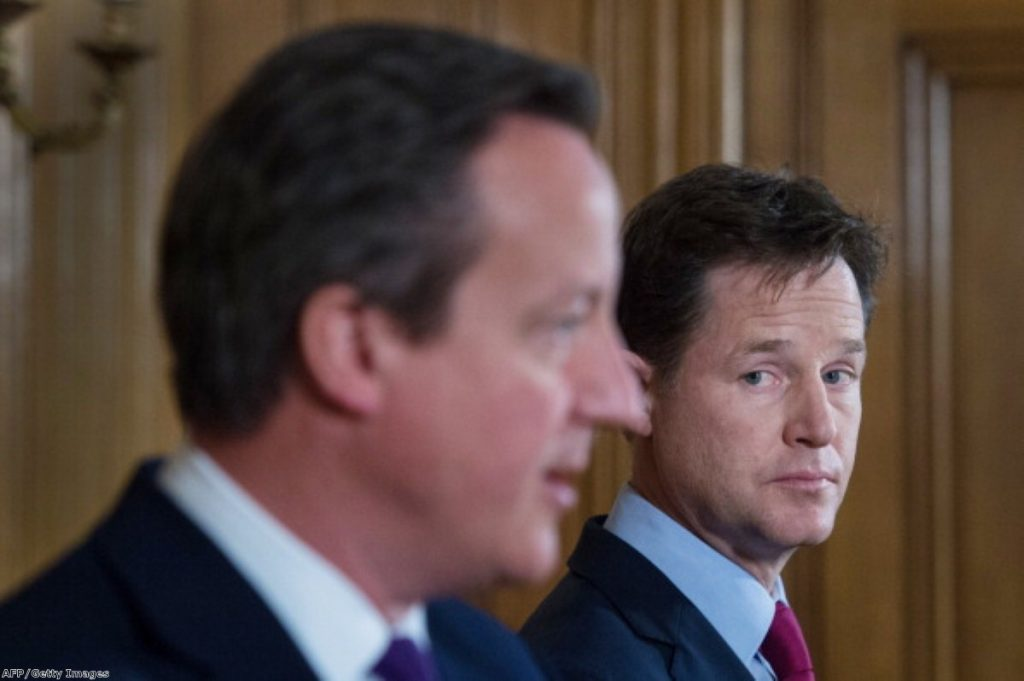 "Clegg accuses the Tories of ""beating up on the poor"""