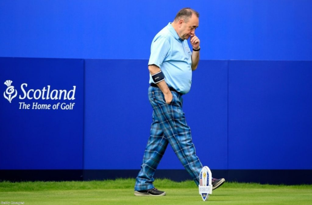Life - and golf - goes on for Alex Salmond after the Scottish independence referendum