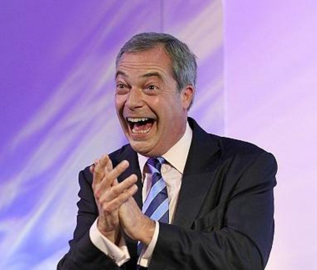 Nigel Farage received help from an unlikely ally this lunchtime