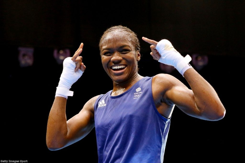 Success on the world stage: Nicola Adams takes gold for Britain in the 2012 Olympics