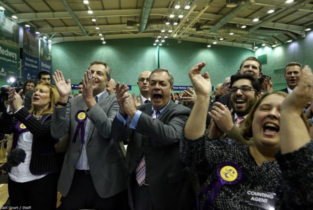 Nigel Farage and co celebrate another Ukip victory