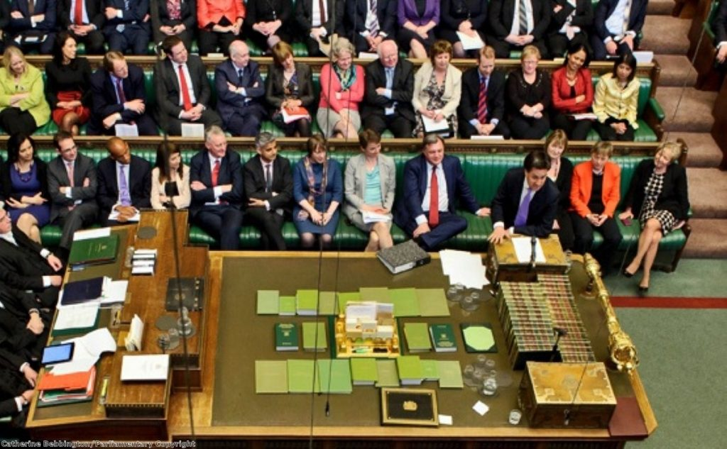 The Commons at his back: Miliband will have an easier time forming a government after the election