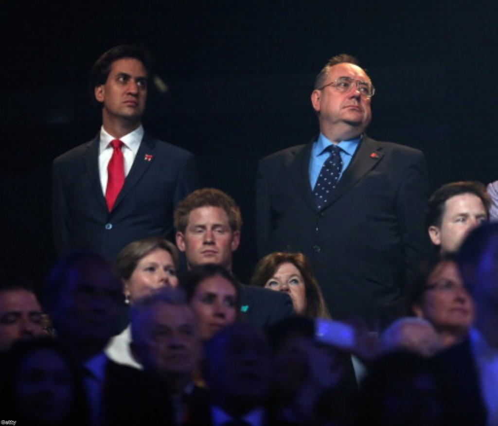 Ed Miliband and Alex Salmond: Coalition partners?