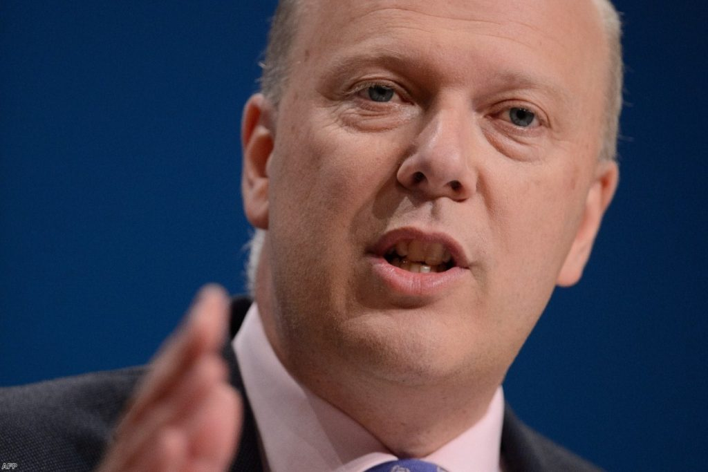 Chris Grayling at the Tory party conference last year