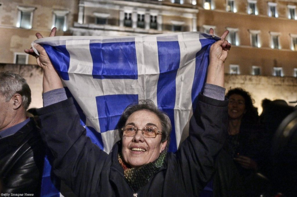 A demonstrator turns out on the streets to support the new Greek government - but should left-wingers put their faith in Syriza?