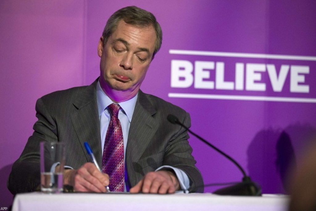 Nigel Farage: Facing disappointment
