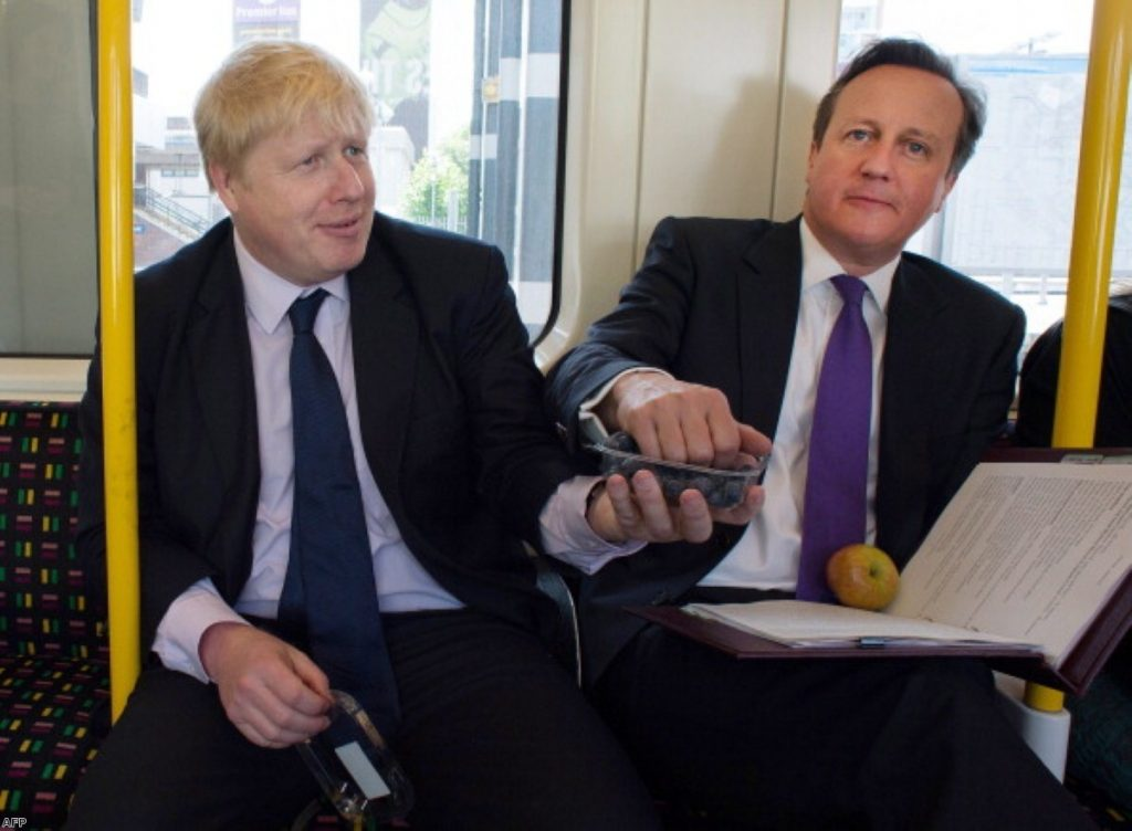 Boris Johnson and David Cameron share the wealth in London