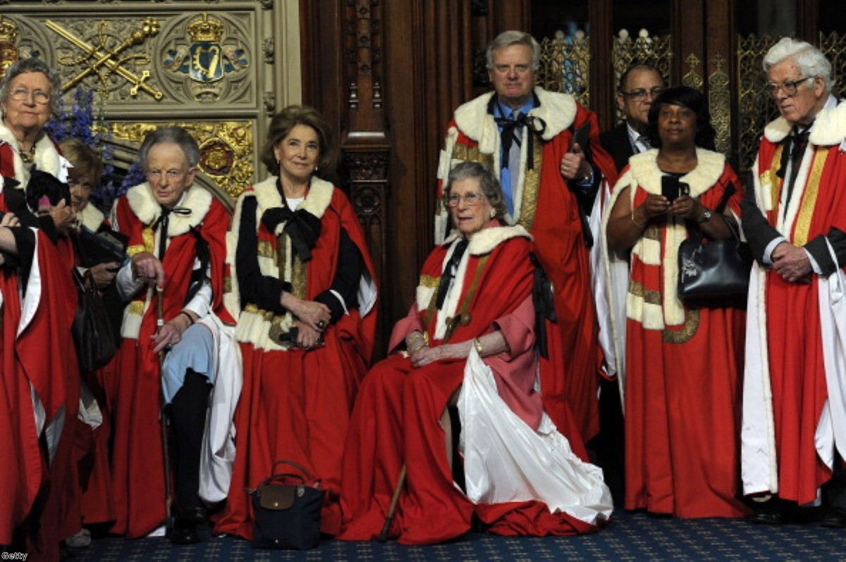 Lord Grade, centre right, wants televised election debates cancelled