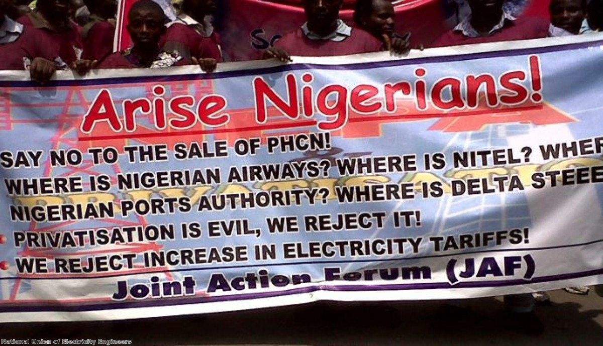 Nigerian protesters reject increases in electricity prices
