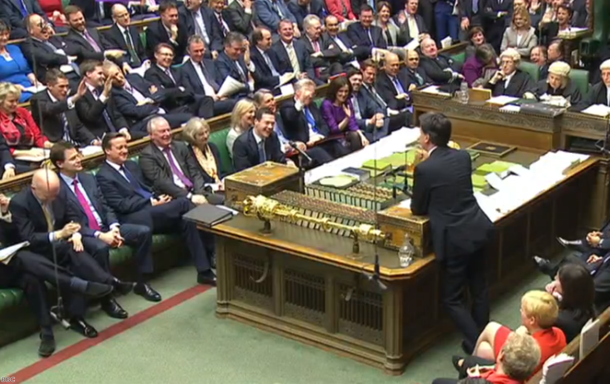 Goodnight sweetheart: Tory MPs wave farewell to Miliband