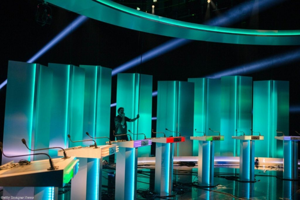 Last-minute preparations being made for tonight's debate
