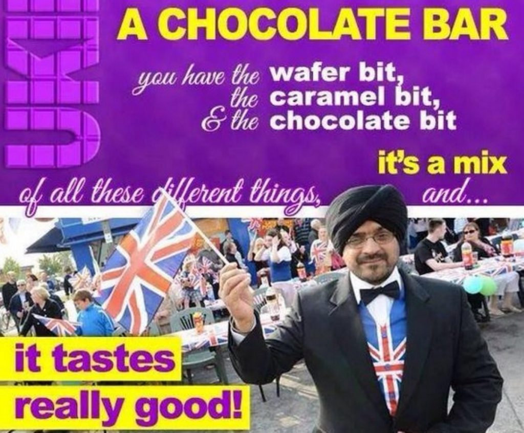 Elaborate chocolate metaphor + Ukip candidate = Bafflement