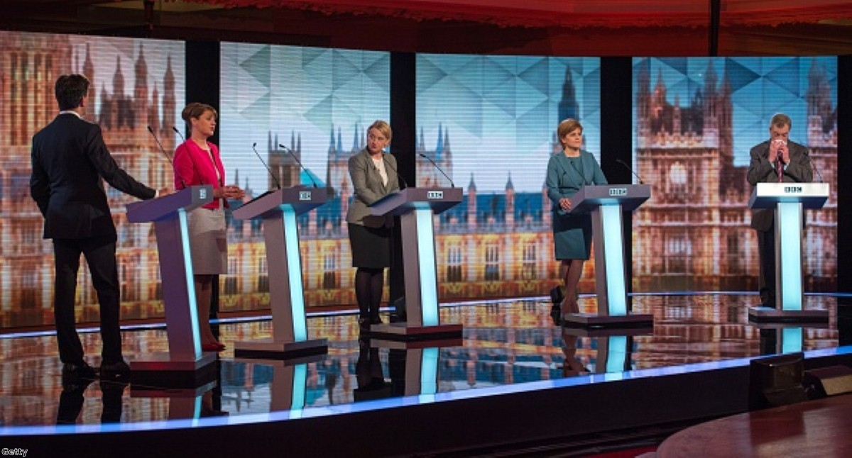 Leaders of the main opposition parties debate on the BBC.