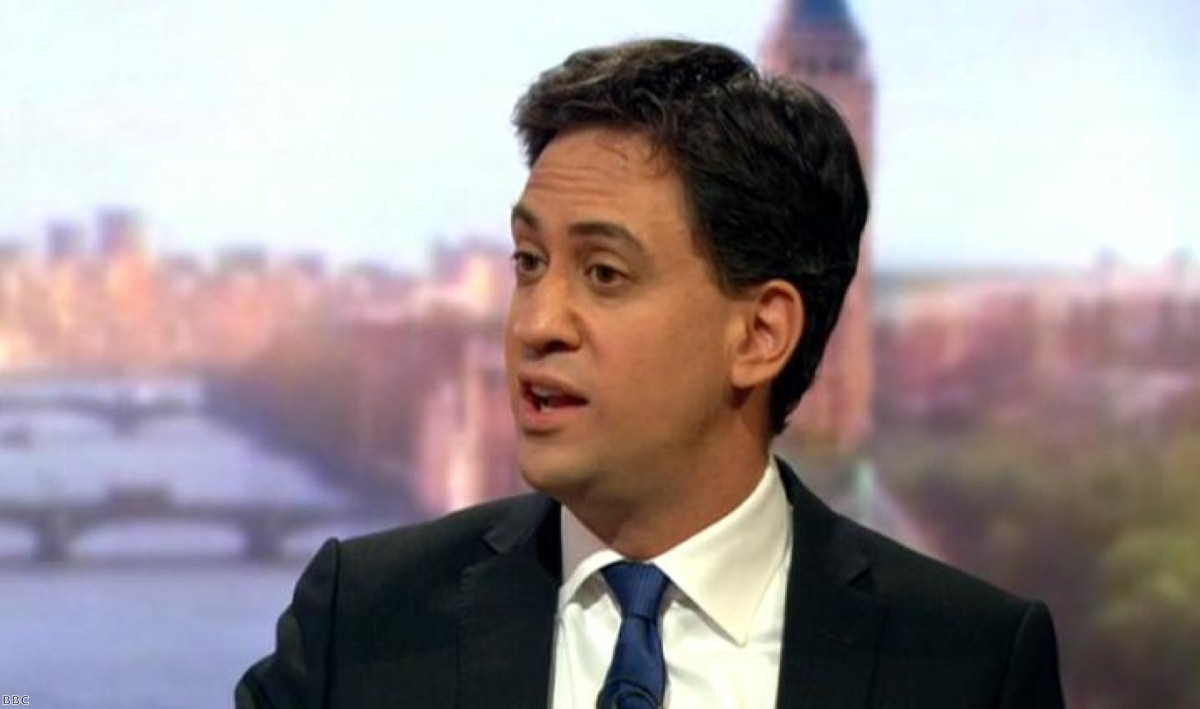 Ed Miliband on Marr this morning