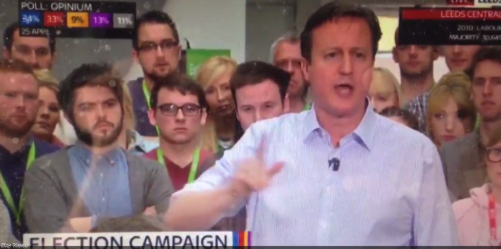 """David Cameron: """"This is a career-defining (err) country defining election"""""""