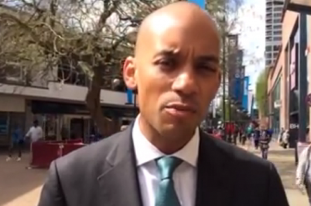 Chuka Umunna announces his leadership bid in Swindon