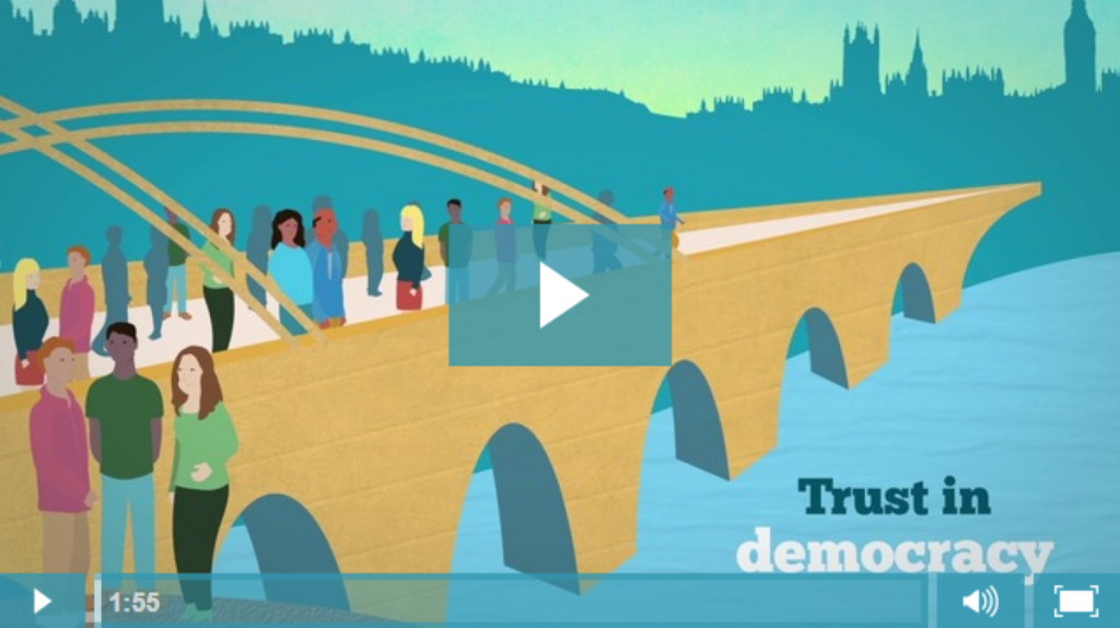 "Only 25% of people ""trust"" Parliament, but 50% trust the overall democratic process. So how can we bridge the divide?"