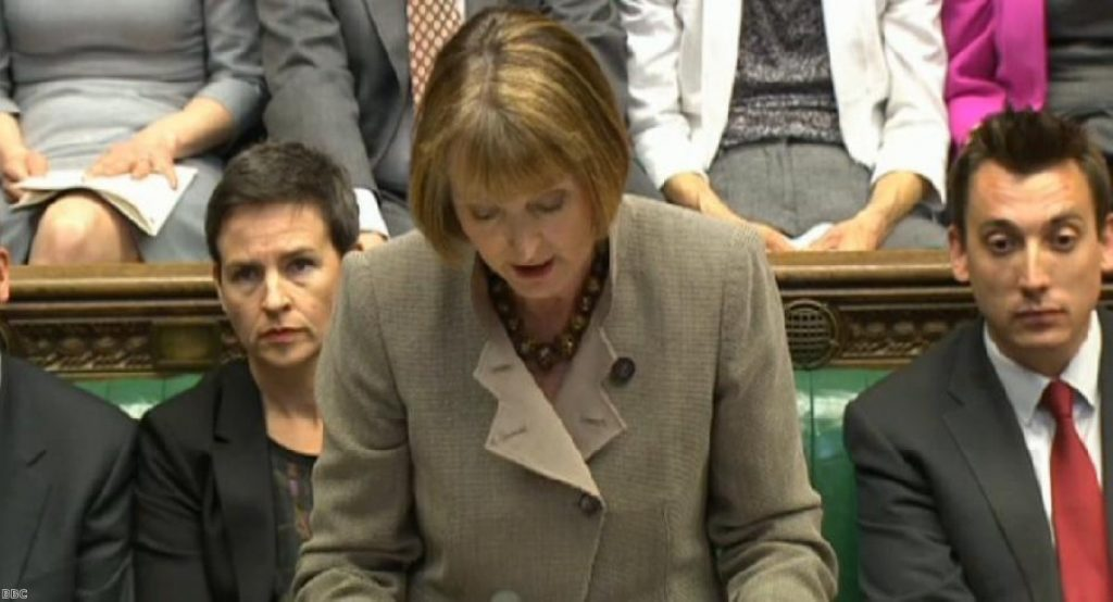 Harriet Harman and her party were decidedly subdued during PMQs