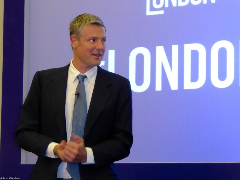 "Zac Goldsmith: ""I would not resign from the Conservative party."""