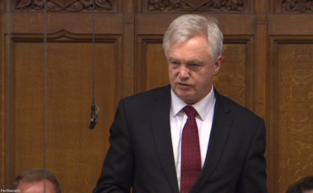 Davis admits he wants closest possible access to single market