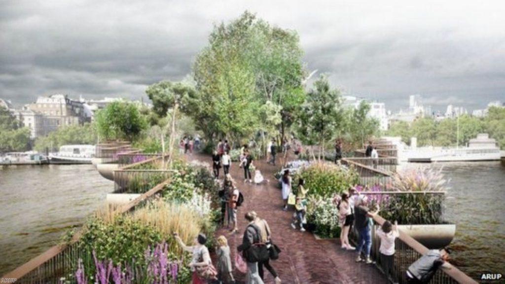Future of controversial garden bridge in doubt
